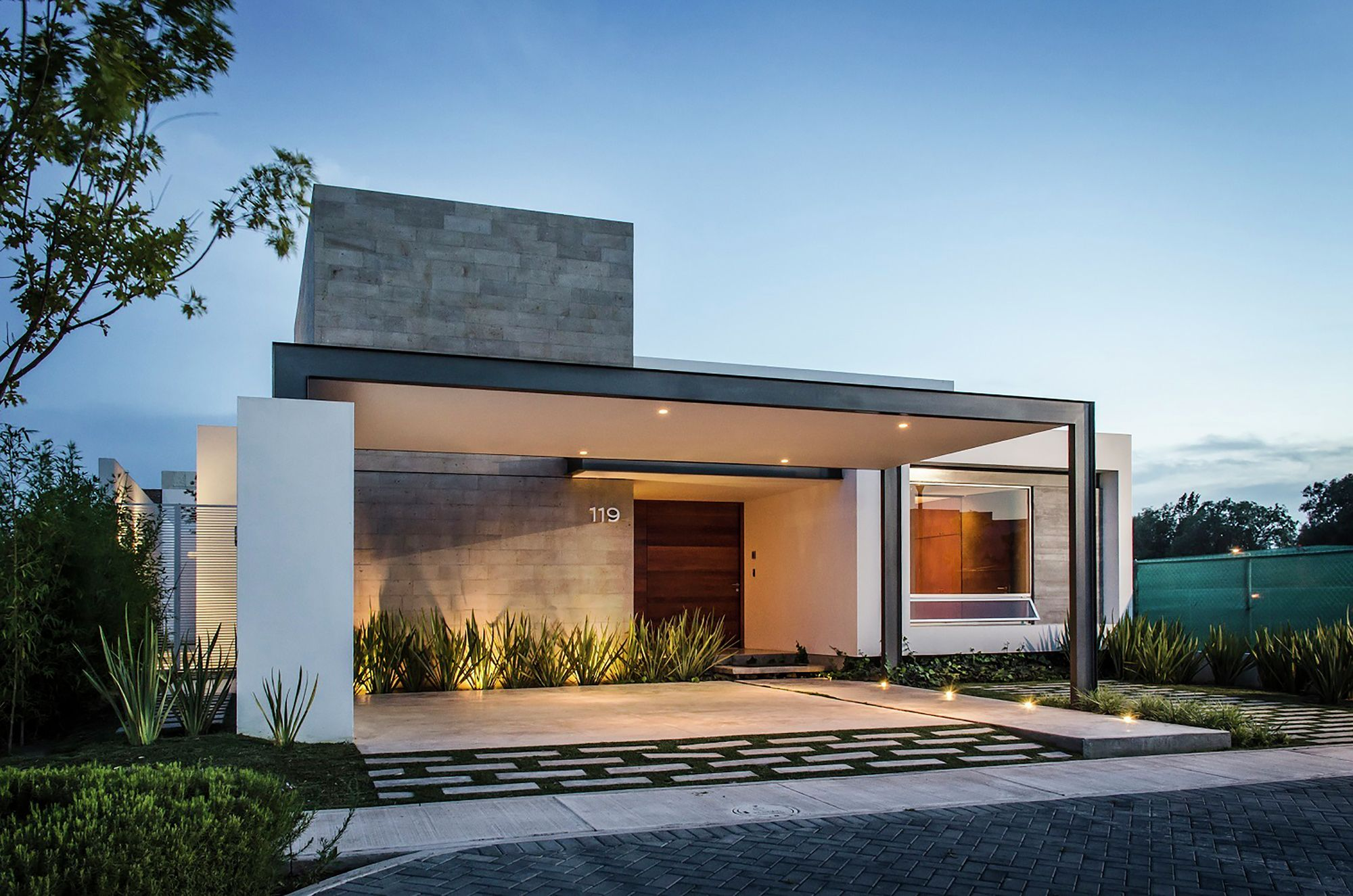 diseo casa moderna de un piso construye hogar