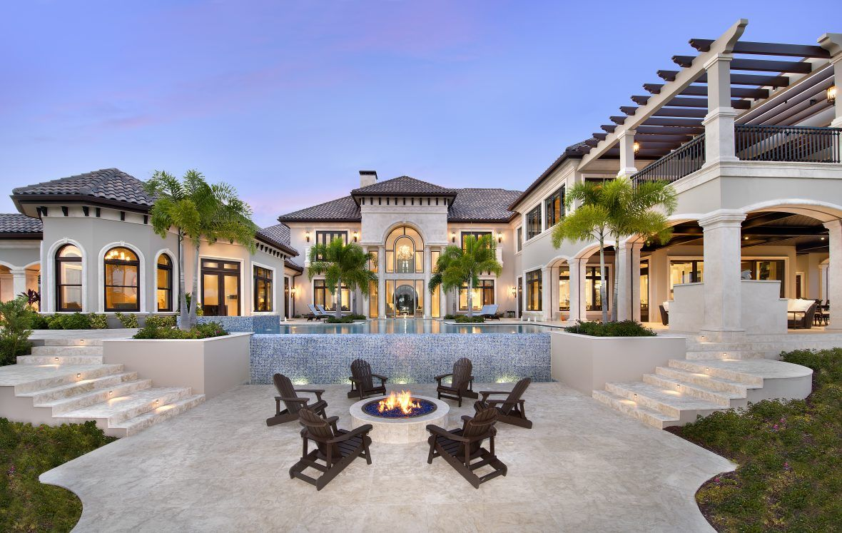 Golf Course Home Plan s of this 20 000 Sq Ft Tuscan Mansion