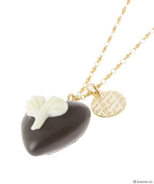 Heart on Heart Chocolat Necklace(DBRW)