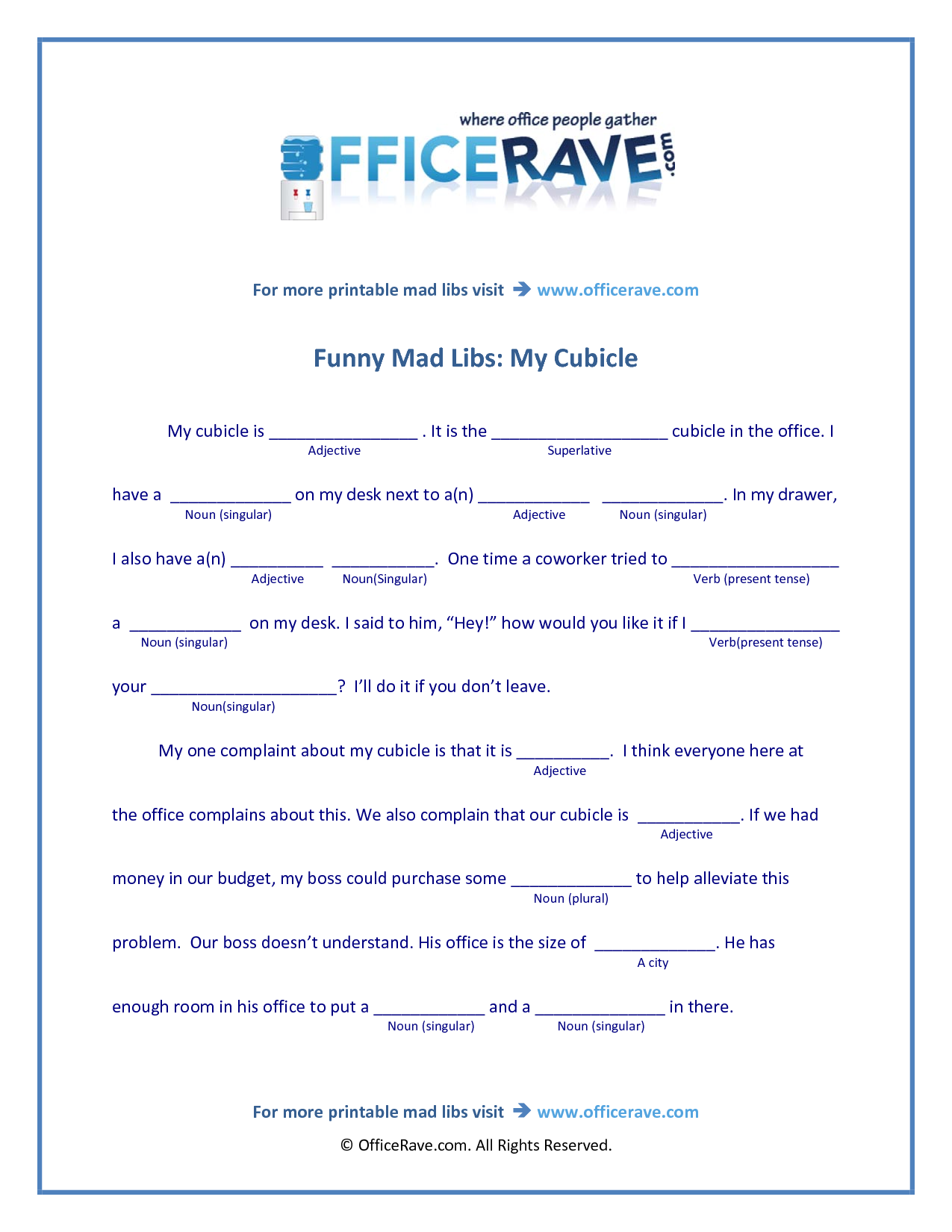 image regarding Office Mad Libs Printable referred to as outrageous libs printable No cost Printable Nuts Libs amusing Kid