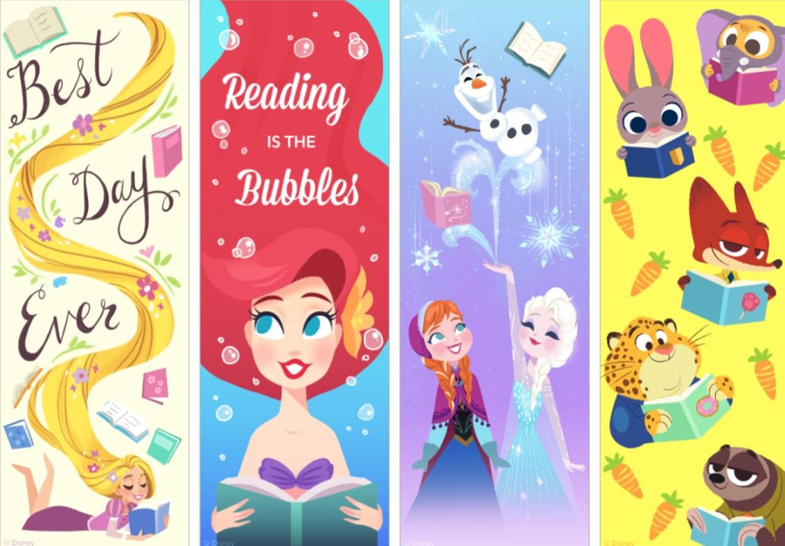 Printable Bookmarks Disney
