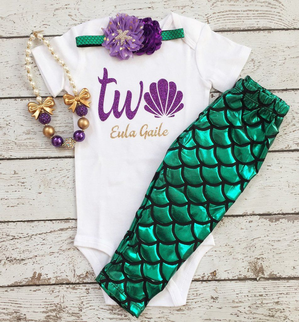 Mermaid Second Birthday/2nd Birthday Outfit/Under The Sea