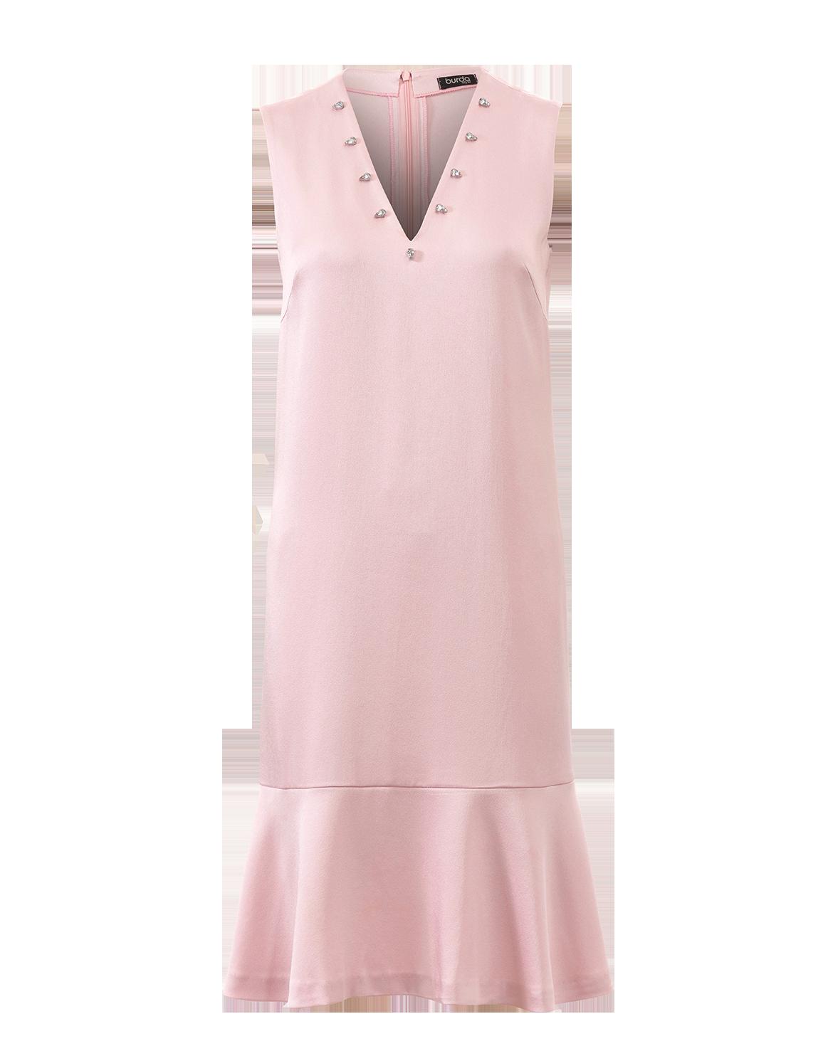 Schnittmuster Kleid · Eine darunter getragene Spitzenbluse