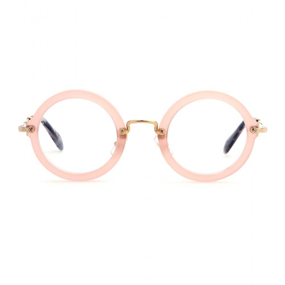Miu Miu - Brille - Miu Mius Brille versprüht mit ihren runden ...