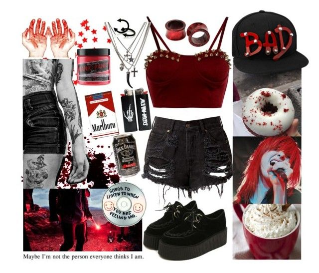 """""""It Was Written In Blood"""" by beadances ❤ liked on Polyvore featuring Manic Panic and Sharpie"""
