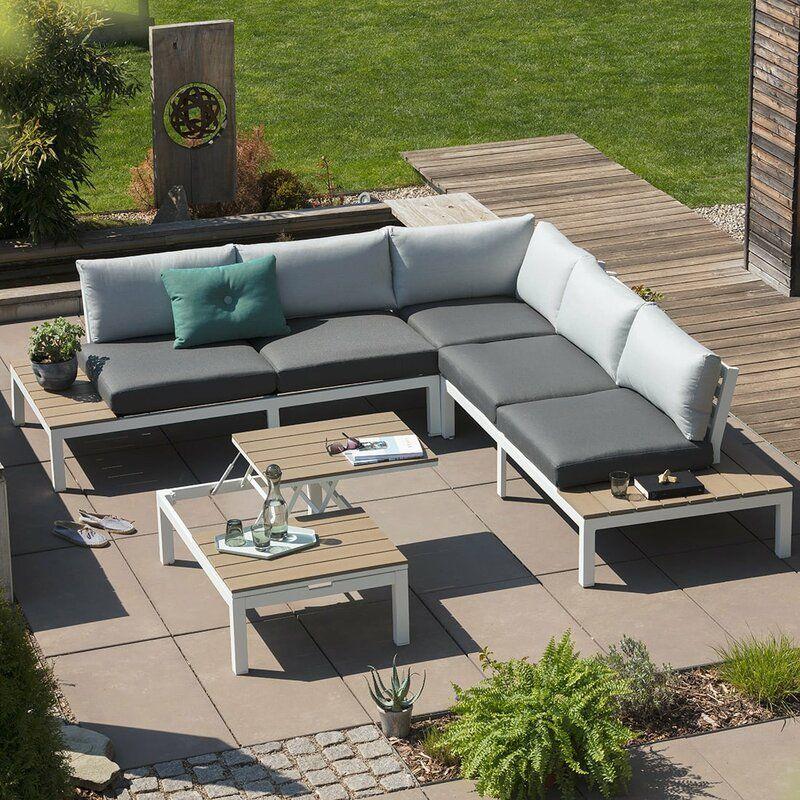 7 Sitzer Lounge Set Dauphin Mit Polster Outdoor Lounge Mobel Gartenmobel Lounge Set Garten Lounge Set