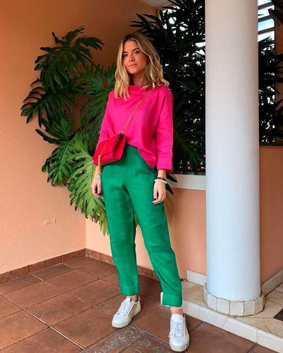10 increíbles ideas para combinar tus prendas rosas con otros colores