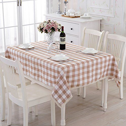 tre grid rectangle tablecloth fabric living roomdining