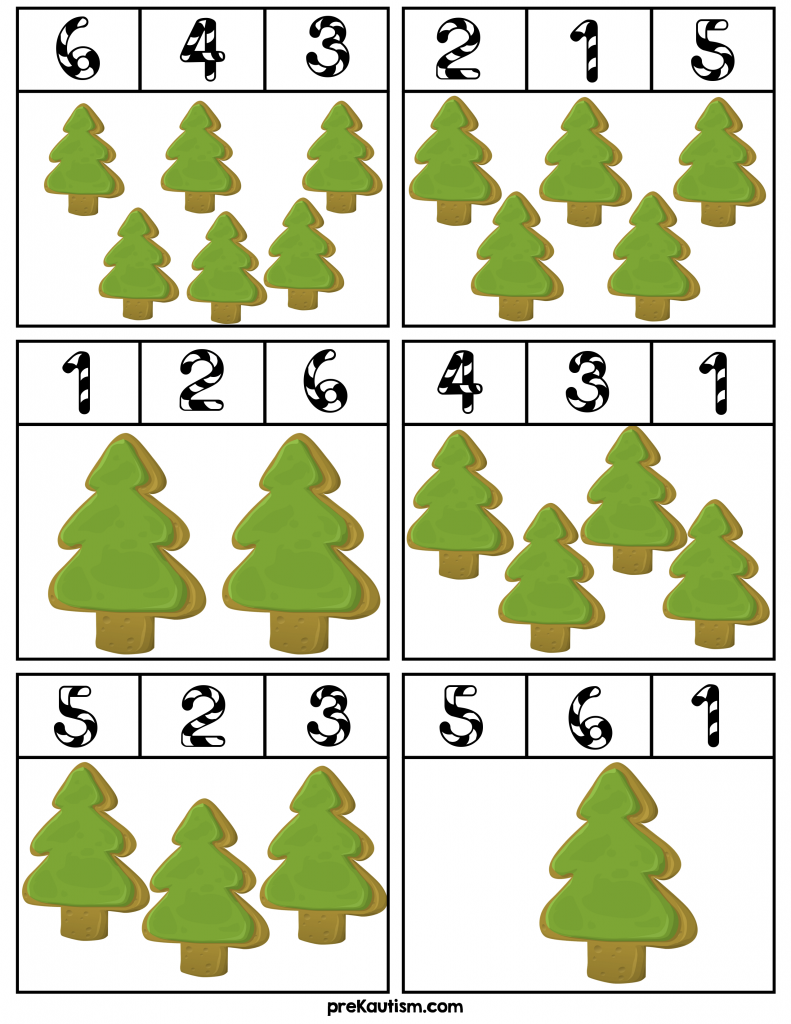Winter Number # Clip Cards | Pinterest | Math, Activities and ...
