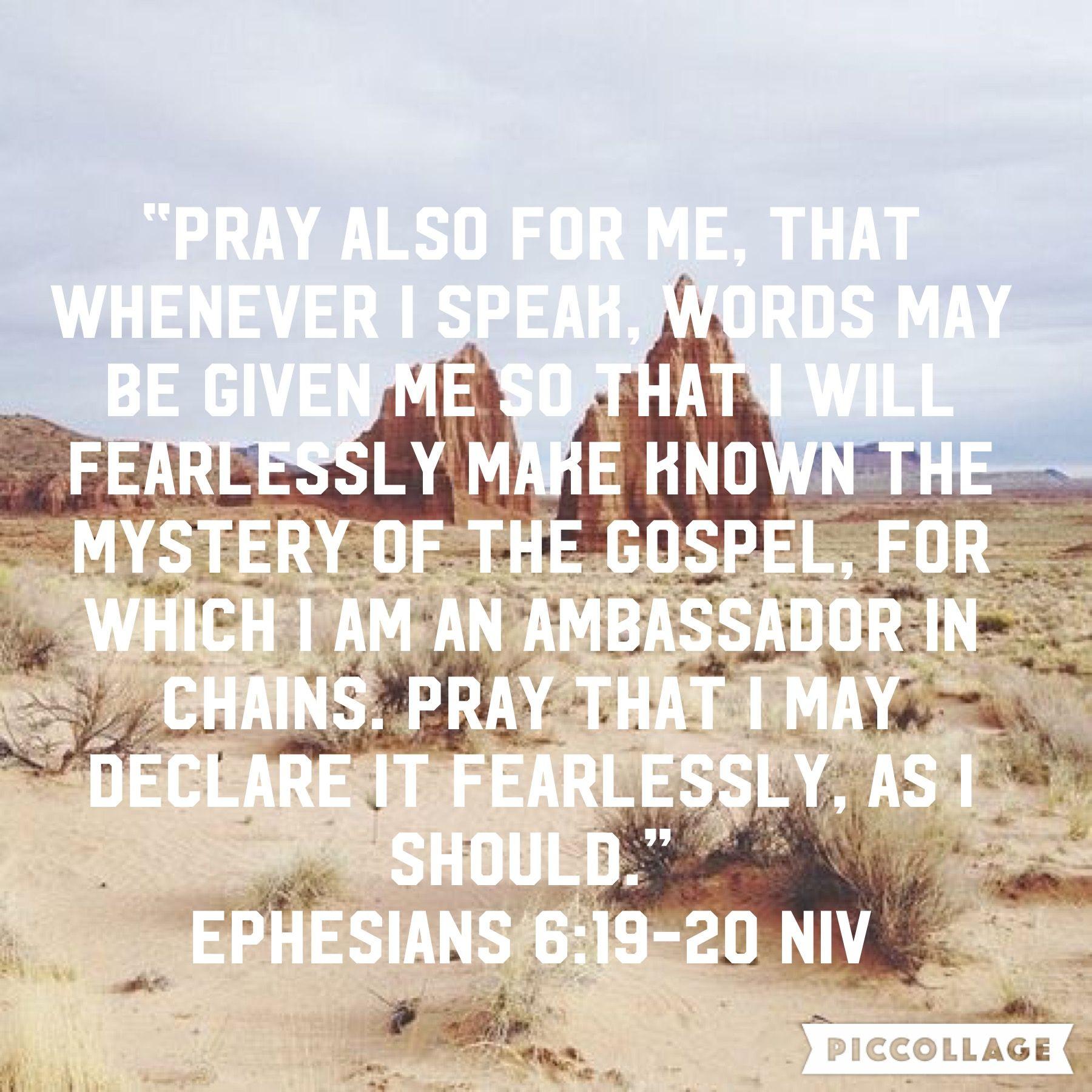 Ephesians 6:19-20