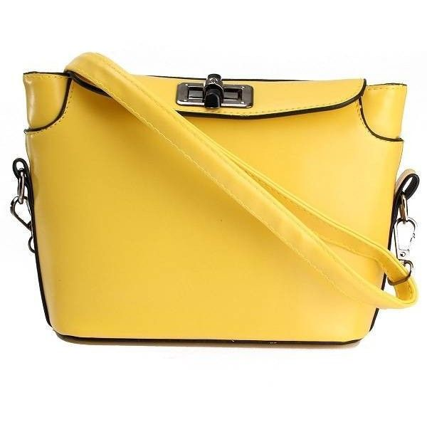 Women Candy Color Bag Lady Purse Shoulder Bag Crossbody Bag (99 NOK) ❤ liked on Polyvore featuring bags, handbags, shoulder bags, yellow, man bag, crossbody handbag, handbags crossbody, purse shoulder bag and hand bags