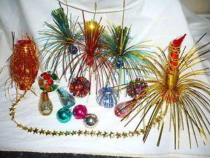 Vintage retro   foil christmas tree decorations xmas ornaments bauble also rh pinterest