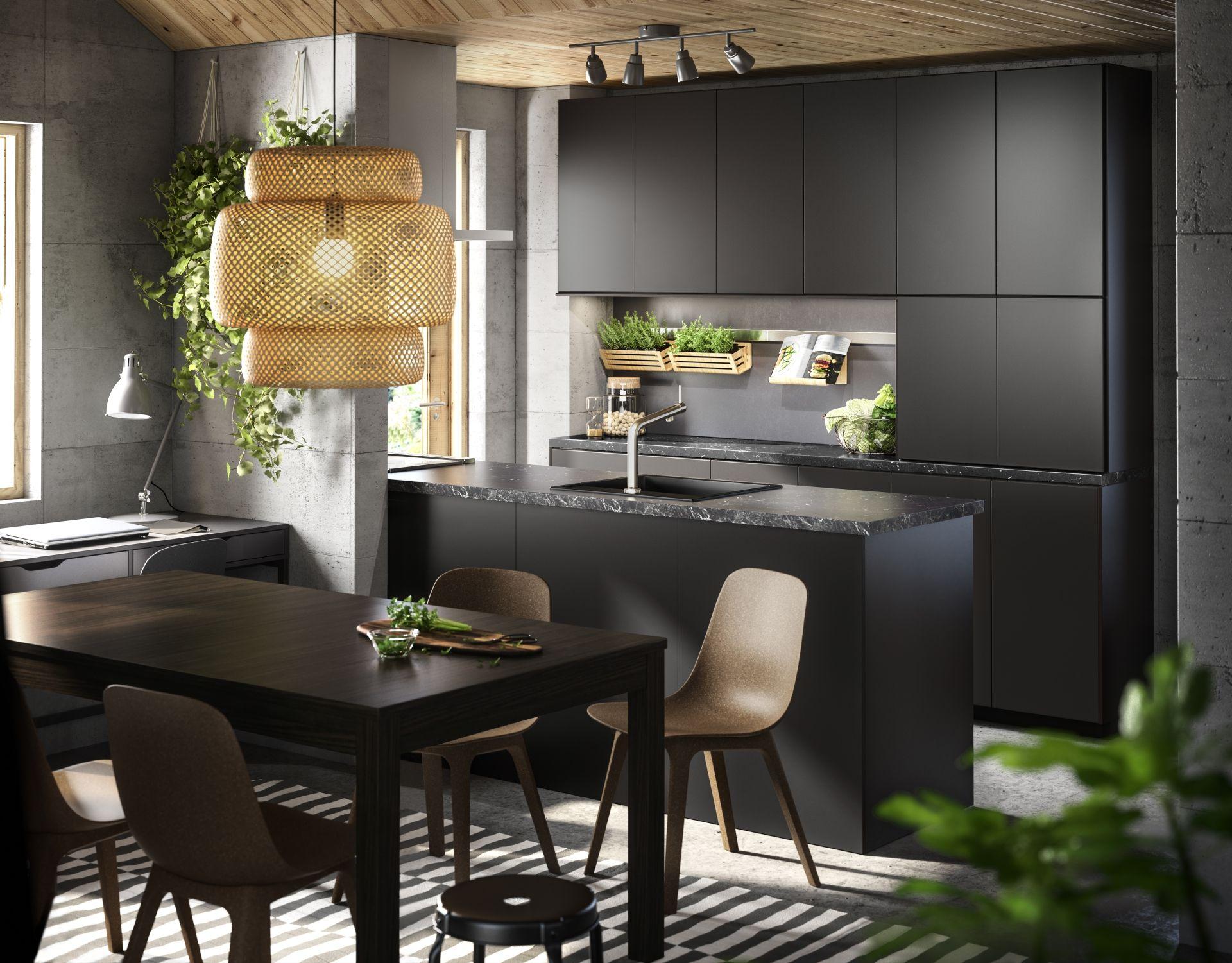 metodkungsbacka keuken ikea ikeanl ikeanederland inspiratie wooninspiratie interieur wooninterieur duurzaam pet natuurlijk kwaliteit antraciet zwart