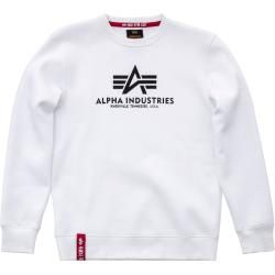 Alpha Industries Basic Sweatshirt Weiss L Alpha Industries Inc. #fashionbasics