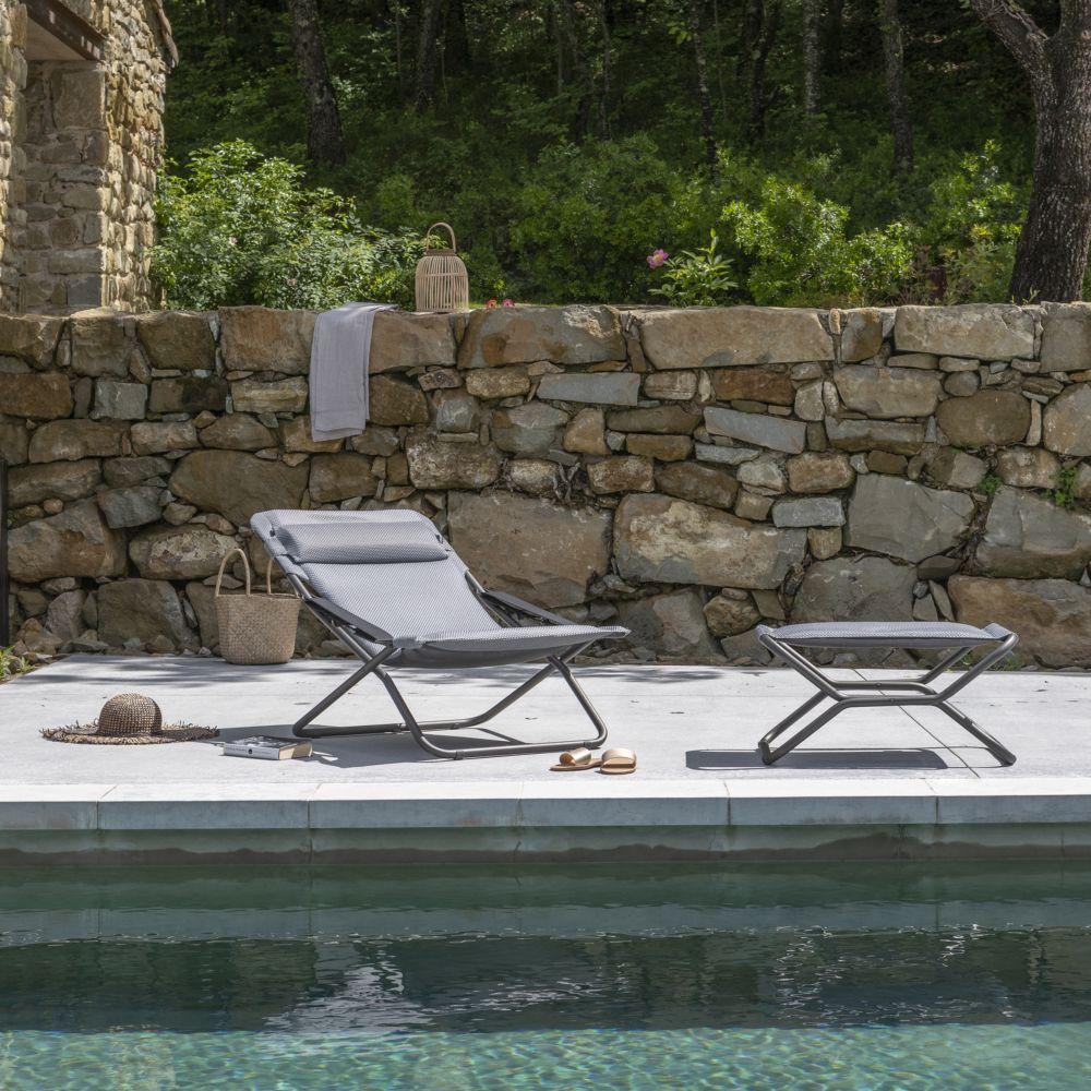 Chaise Longue Transabed Lafuma Be Comfort Silver Pas Cher Chaise Longue Gamm Vert Chaise Verte Chaise Salon De Jardin Et Mobilier Jardin
