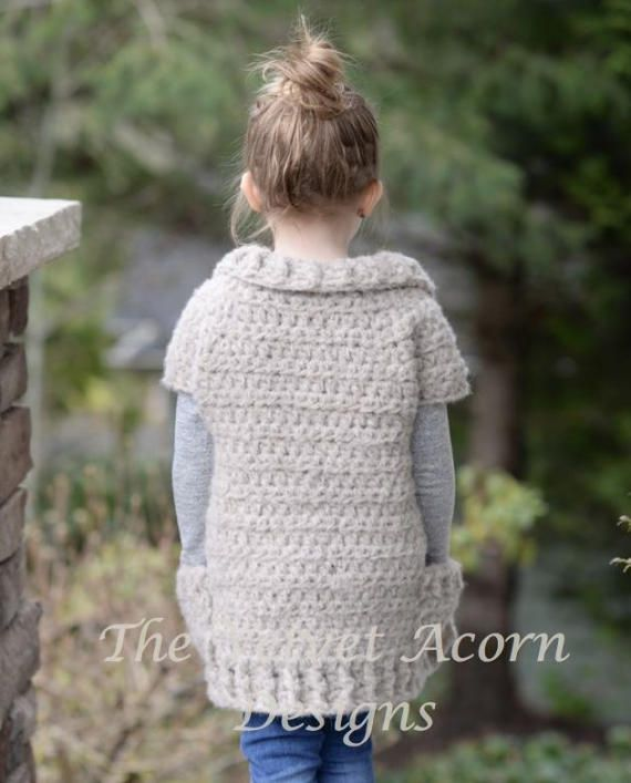 Crochet PATTERN-The Tyla Sweater (2/3, 4/6, 7/9, 10/12, 14/16, Adult ...