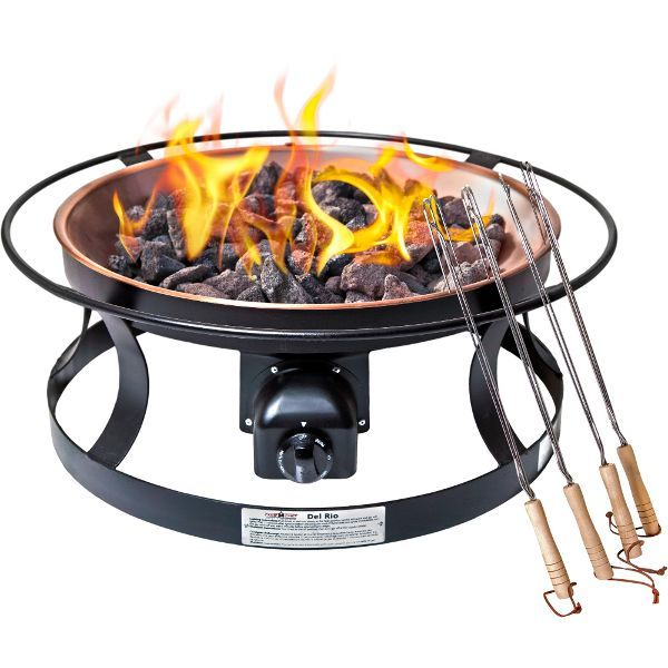 Del Rio Outdoor Gas Fire Pit With Cover Outdoor Fire Wood Burning Fire Pit Fire Pit Backyard