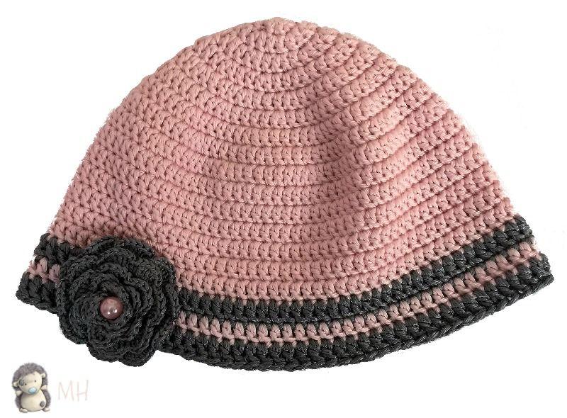 Gorro rosa y plata a crochet, ¡nos preparamos para el frío! | Gorros ...