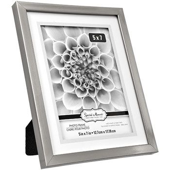 Special Moments Matted Silver Plastic Frames, 5x7 in.   DIY ...