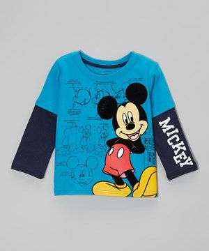 Look what I found on #zulily! Blue Mickey Layered Tee - Toddler by Mickey Mouse #zulilyfinds