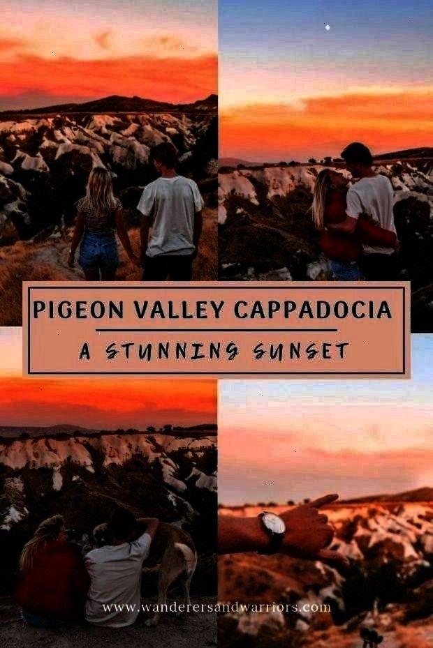 Kapadokya - Guvercinlik Vadisi - Sunsets in Cappadocia Pigeon Valley Cappadocia - Güvercinlik Va