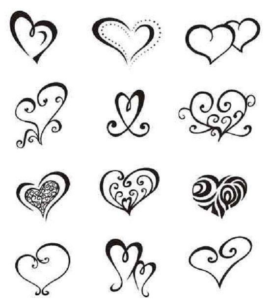Easy Tattoo Patterns For Beginners Tees Tats I Wanna Do Heart