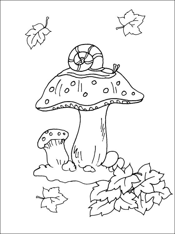 Autumn Mushroom Coloring Page Coloring Pages Coloring Pages, Free Coloring  Pages, Color