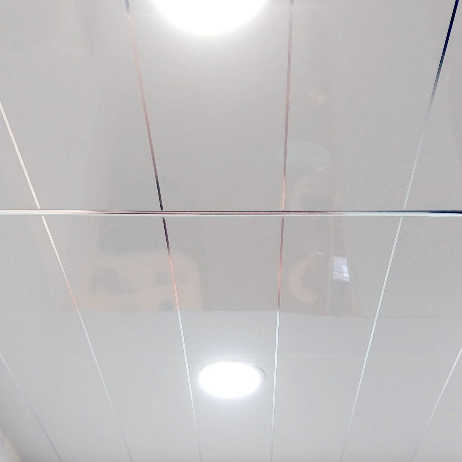 Details About 12 White Gloss With Chrome Edge Pvc Ceiling