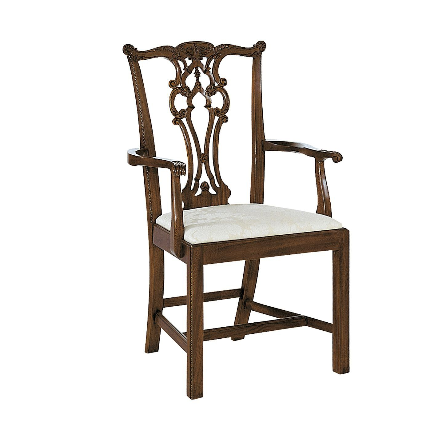 Maitland Smith Dining Chairs Oak Round Table 6 Rhode Island Chippendale Arm Chair By Hickory Pearson