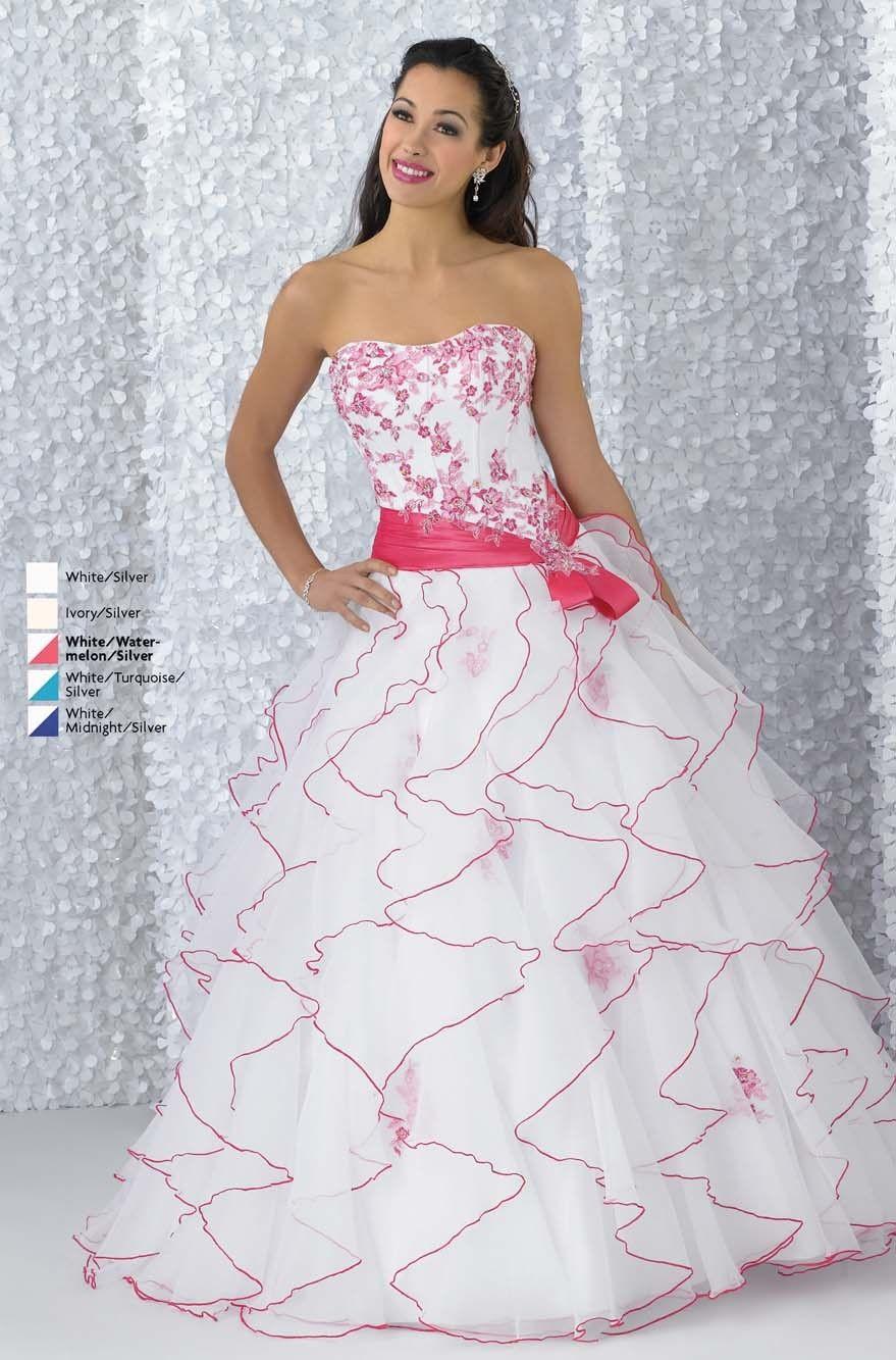 Glamorous Cascading Quinceañera Dress Sweet Sixteen Dress | Cute ...