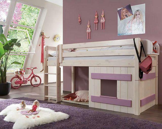 Lindo el color lila y espacio para jugar for Cuartos para ninas lindos