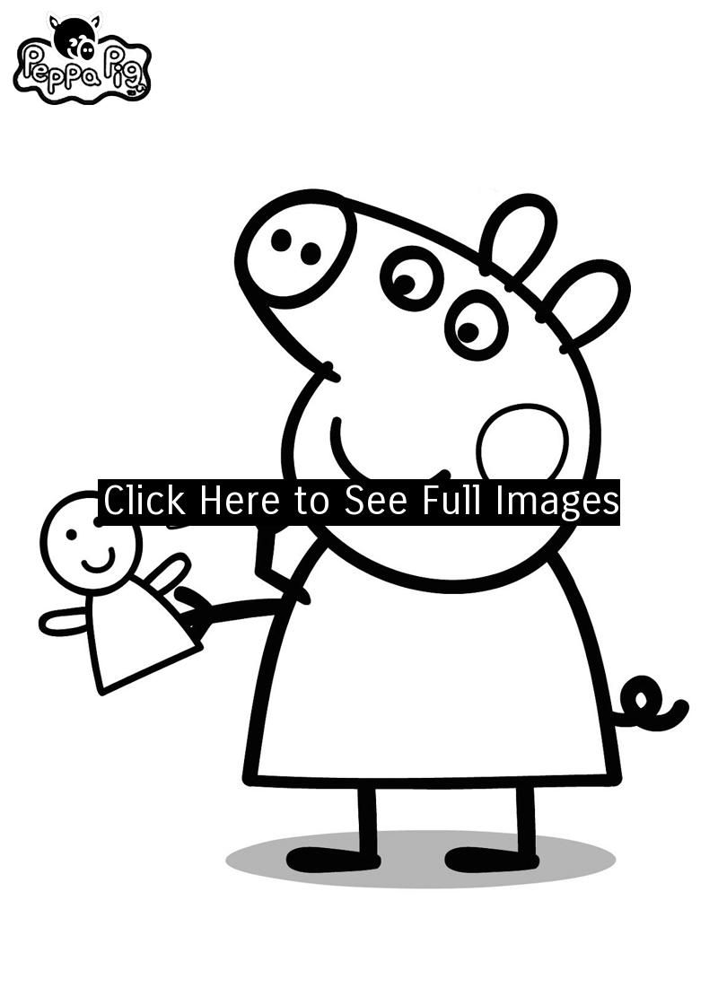 Peppa pig coloring pages silhouette pinterest peppa pig colouring