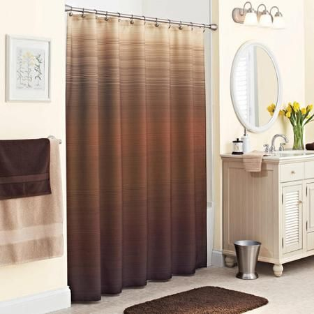 Better Homes And Gardens Ripple Ombre Fabric Shower Curtain