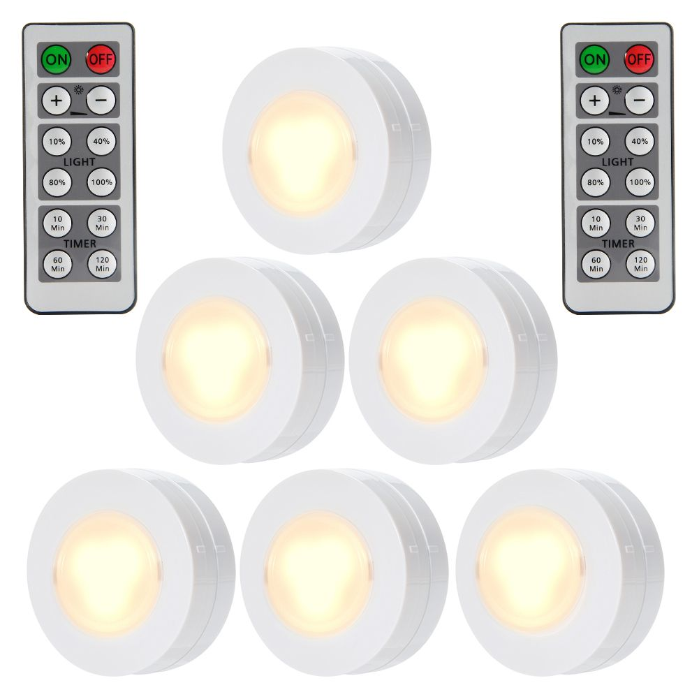 Wireless Led Puck Lights Closet Lights Battery Operated With Remote Control Kitchen Un Under Cabinet Lighting Wireless Led Puck Lights Light Kitchen Cabinets