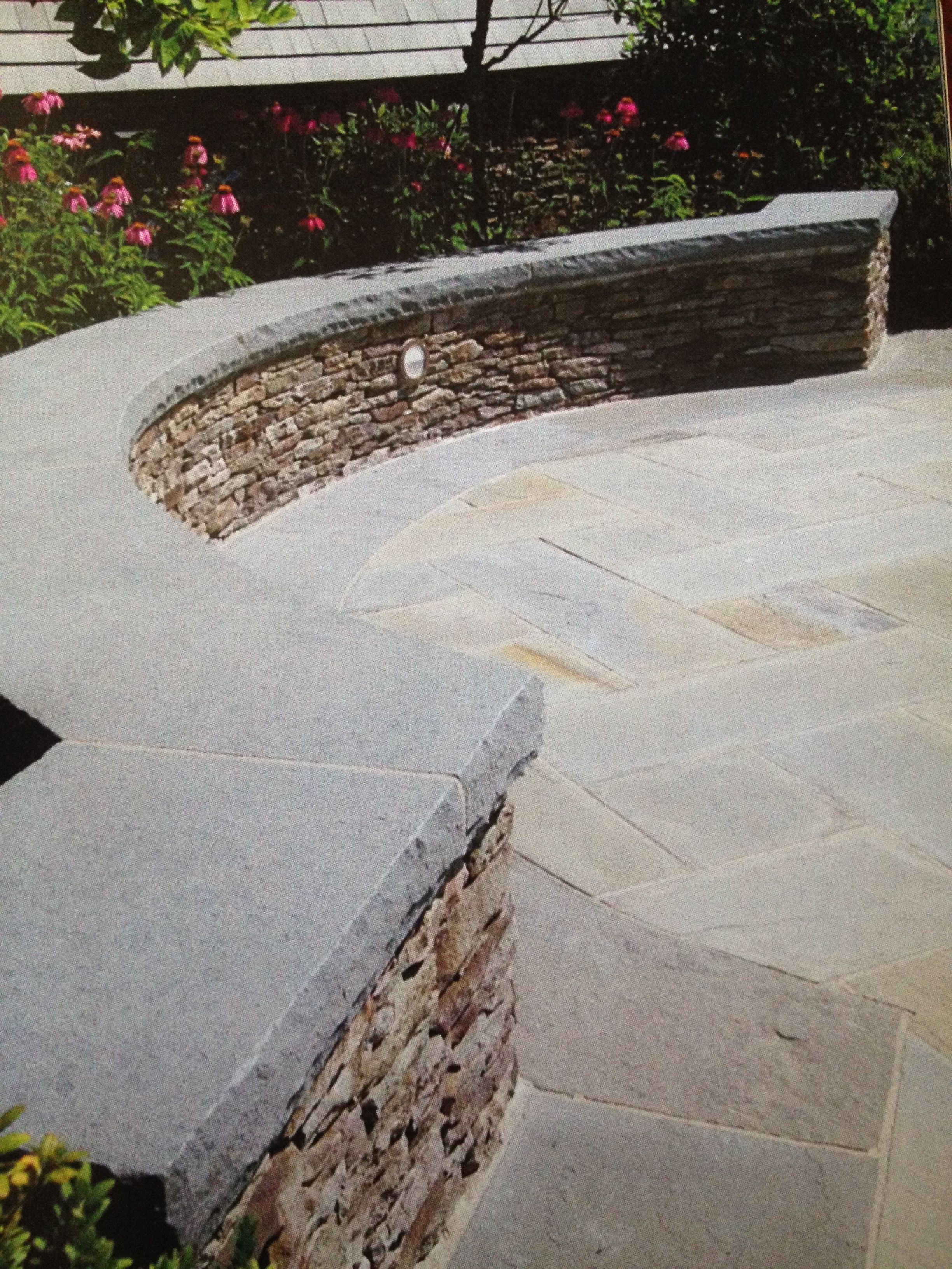 Fieldstone Wall With Rock Face Bluestone Cap