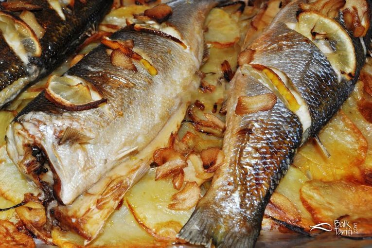 Photo of Baked potato sea bass recipe