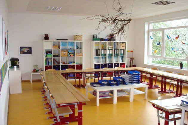 Klassenzimmer in der grundschule klassenzimmer for Schreibtisch grundschule