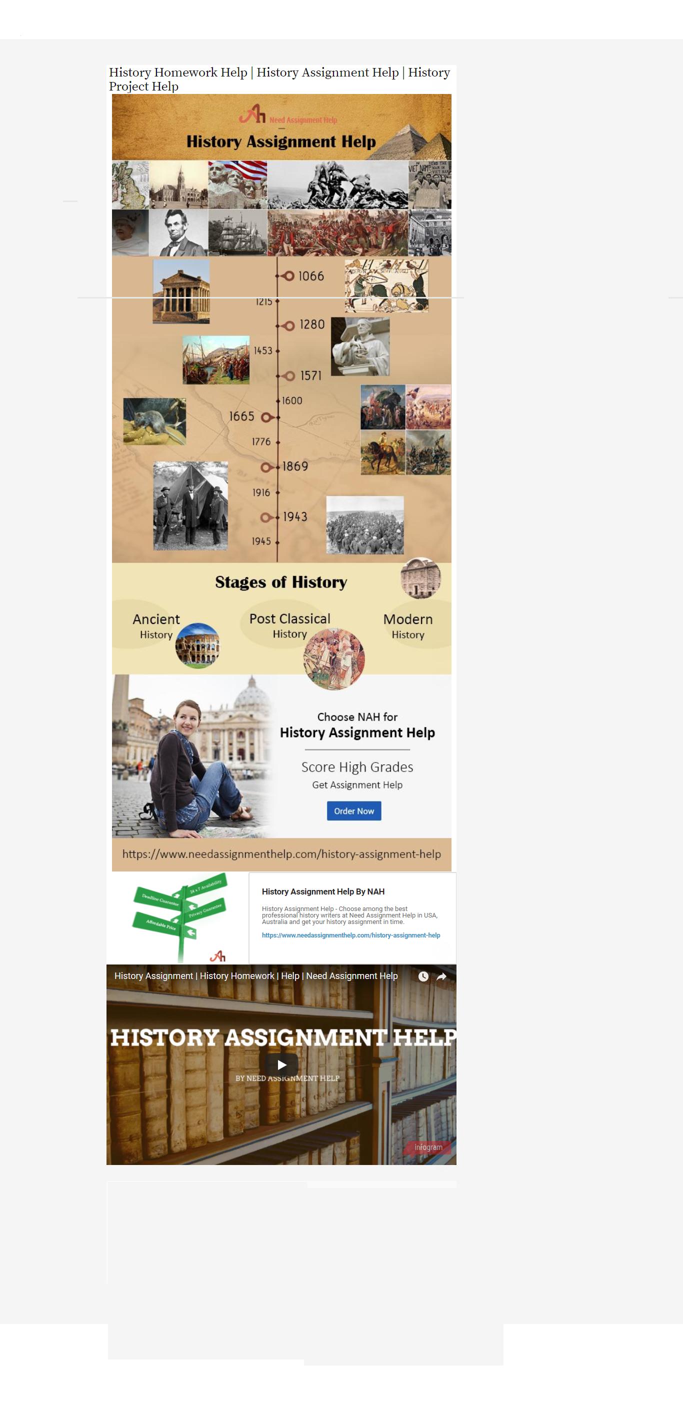 Modern world history homework help