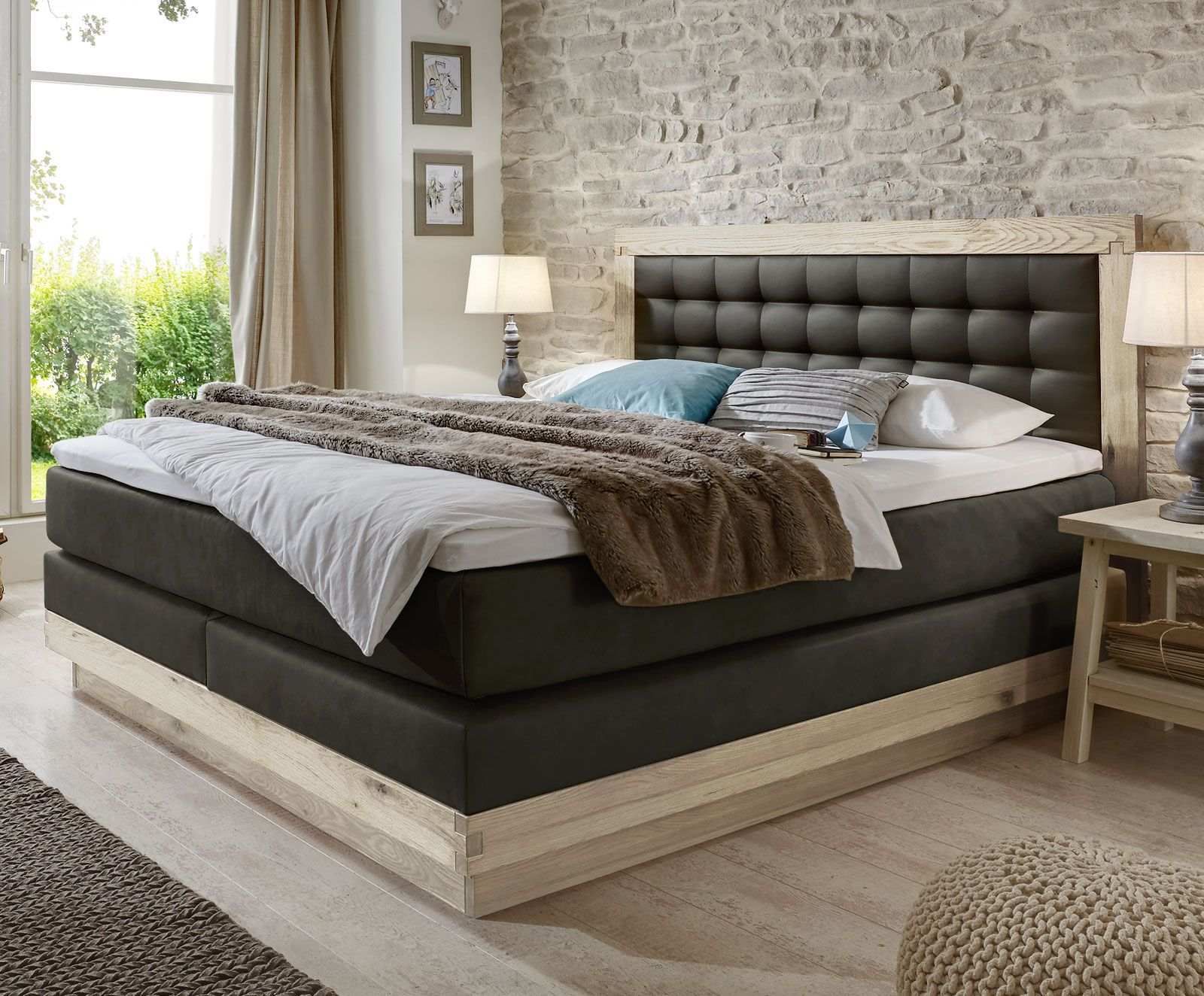 boxspringbett galicia indoor boxspringbett bett und. Black Bedroom Furniture Sets. Home Design Ideas