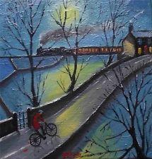 A noite e-mail: a Arte Do Norte Original Pintura A Óleo Sobre Tela Cosa