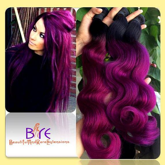 purplish fuschia hair bundles 3pc