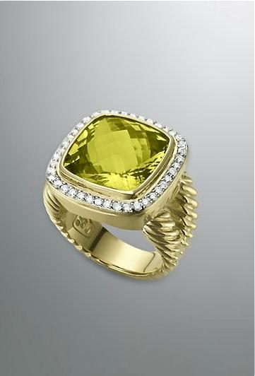 David Yurman lemon citrine ring