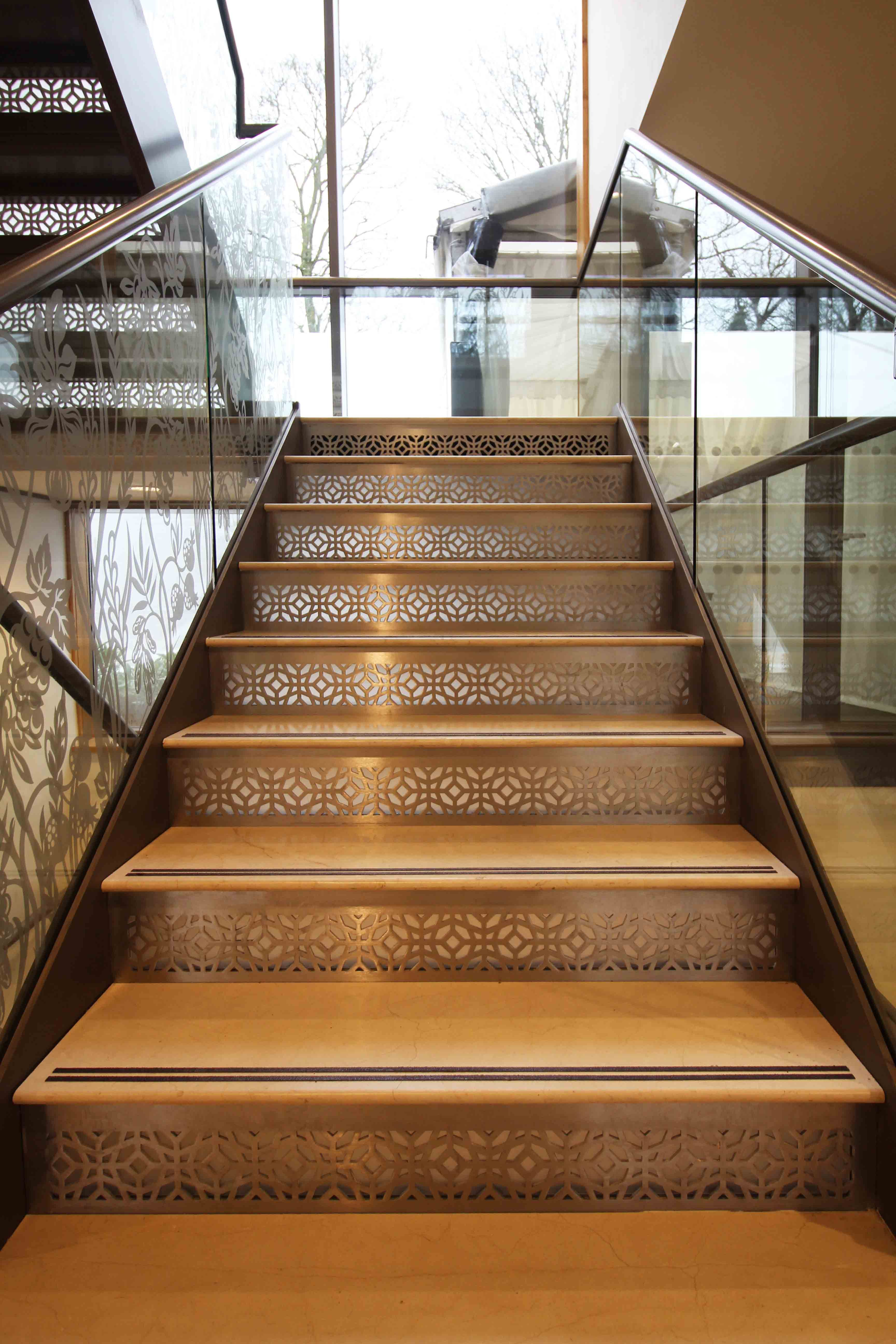 Best Laser Cut Screens Stair Risers Design By Miles And 400 x 300