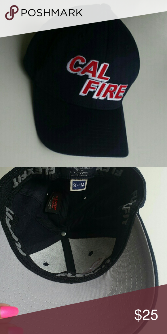 Cal Fire Hat Navy Blue With Red And White Emroidered Cal Fire