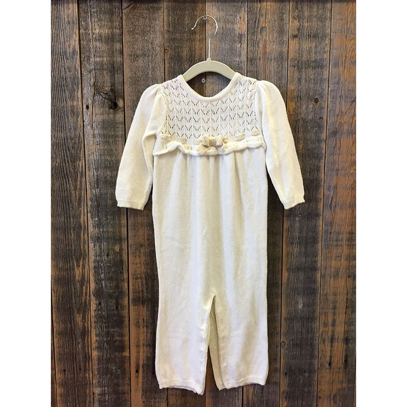 Gymboree Cream Sweater Jumpsuit Size 12-18m