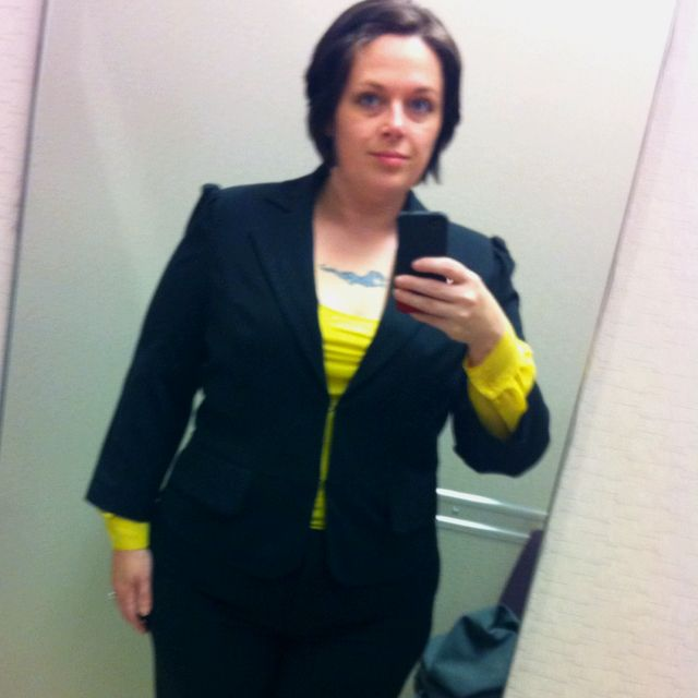 My new Power Suit! Love that I was given a JcPenny gift card to get a new suit! I needed it and this was a great day!