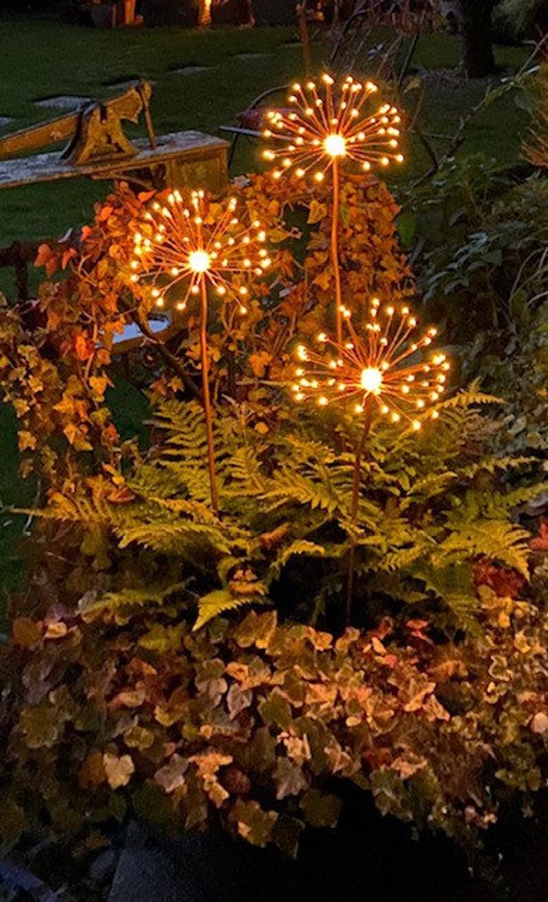 Allium Garden Light Copper And Solar Powered Leds Solar Lights Garden Allium Garden Small Patio Garden