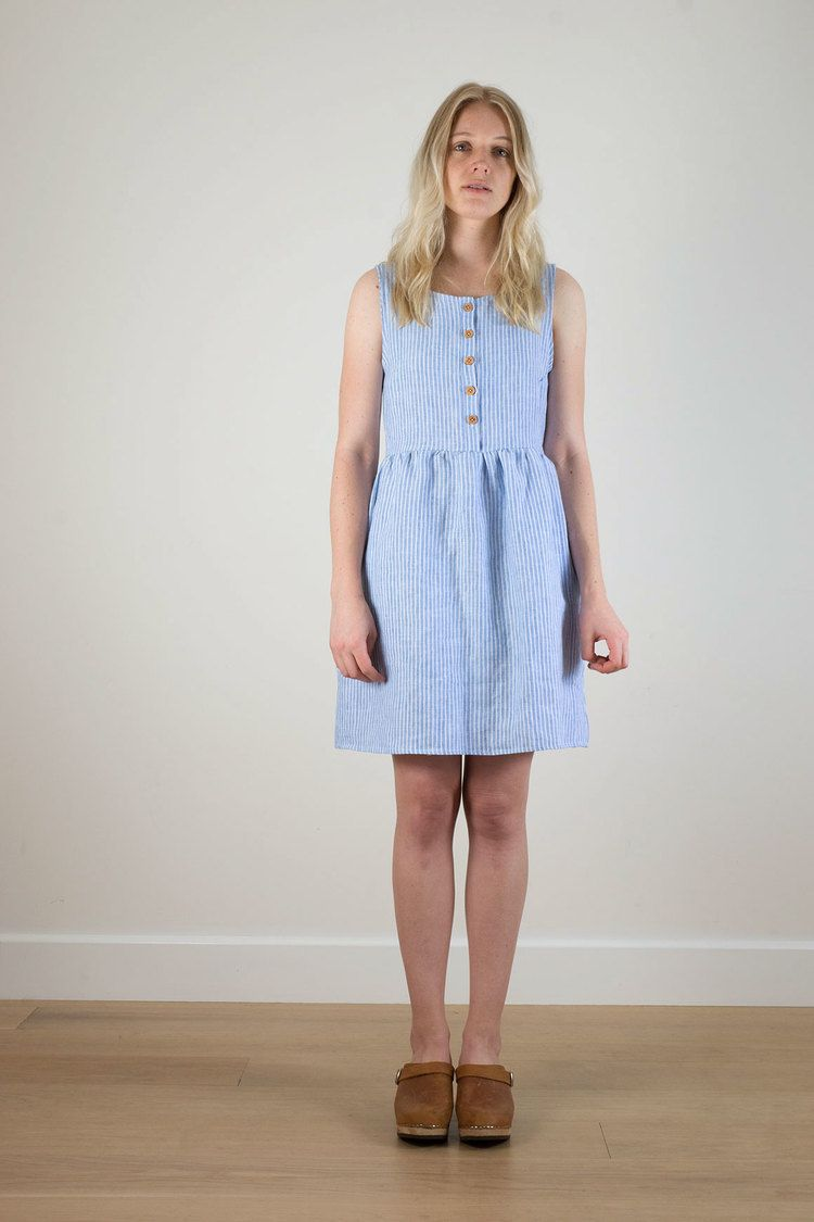ff344c2558d Blue and white striped linen dress from Pyne   Smith Clothiers ...