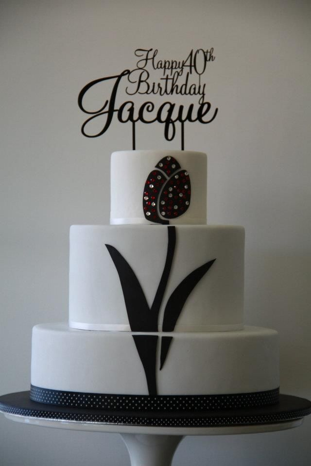 40th Birthday Cake by Cake Appreciation Society Member Lick The Bowl