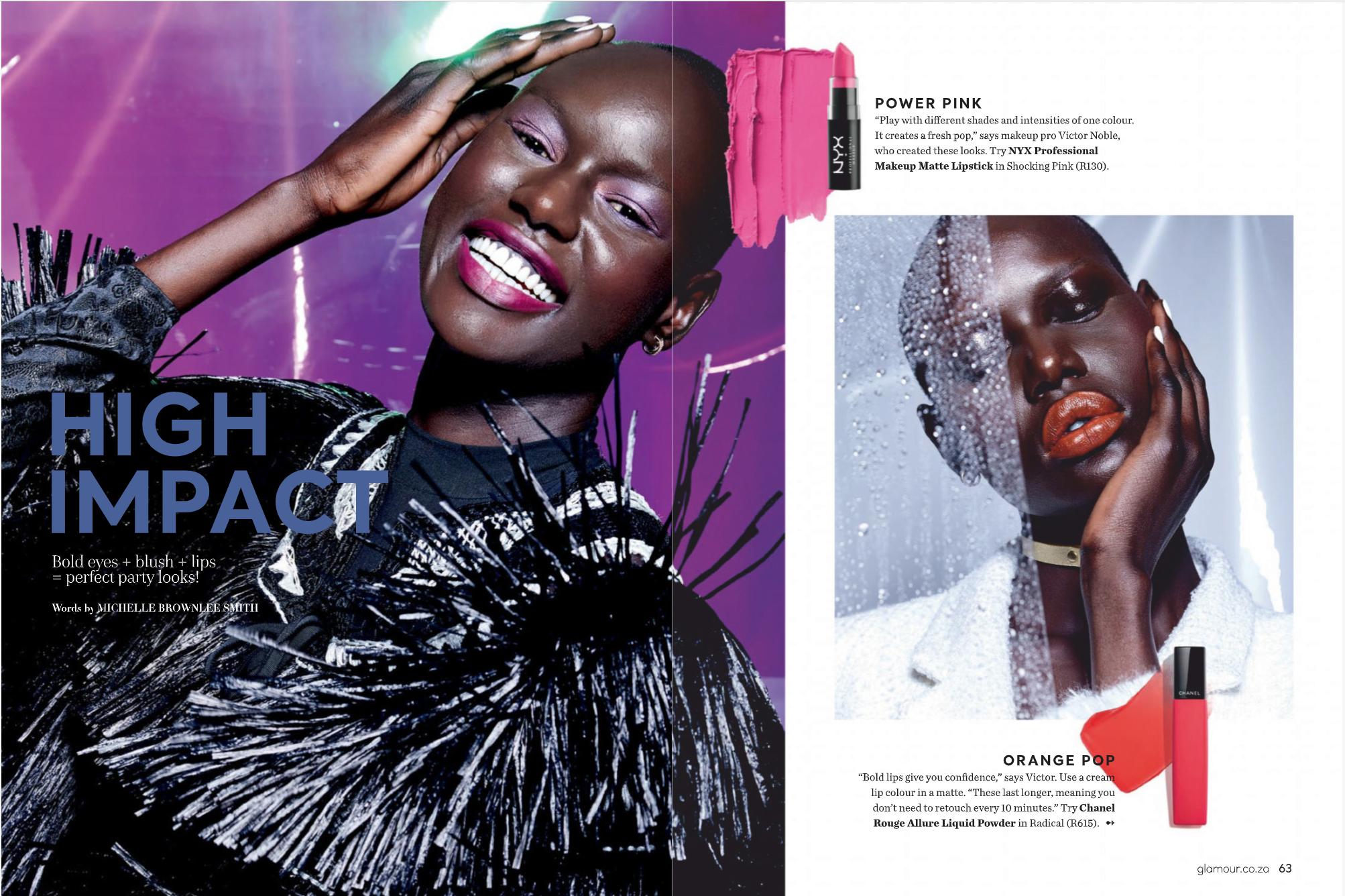 Glamour South Africa Dec/Jan 2019 beauty makeup fashion